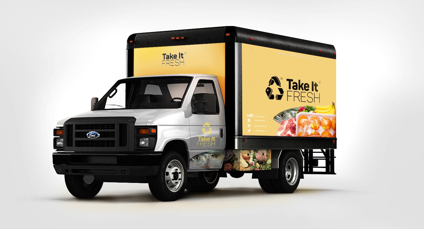 truck take it fresh branding 1