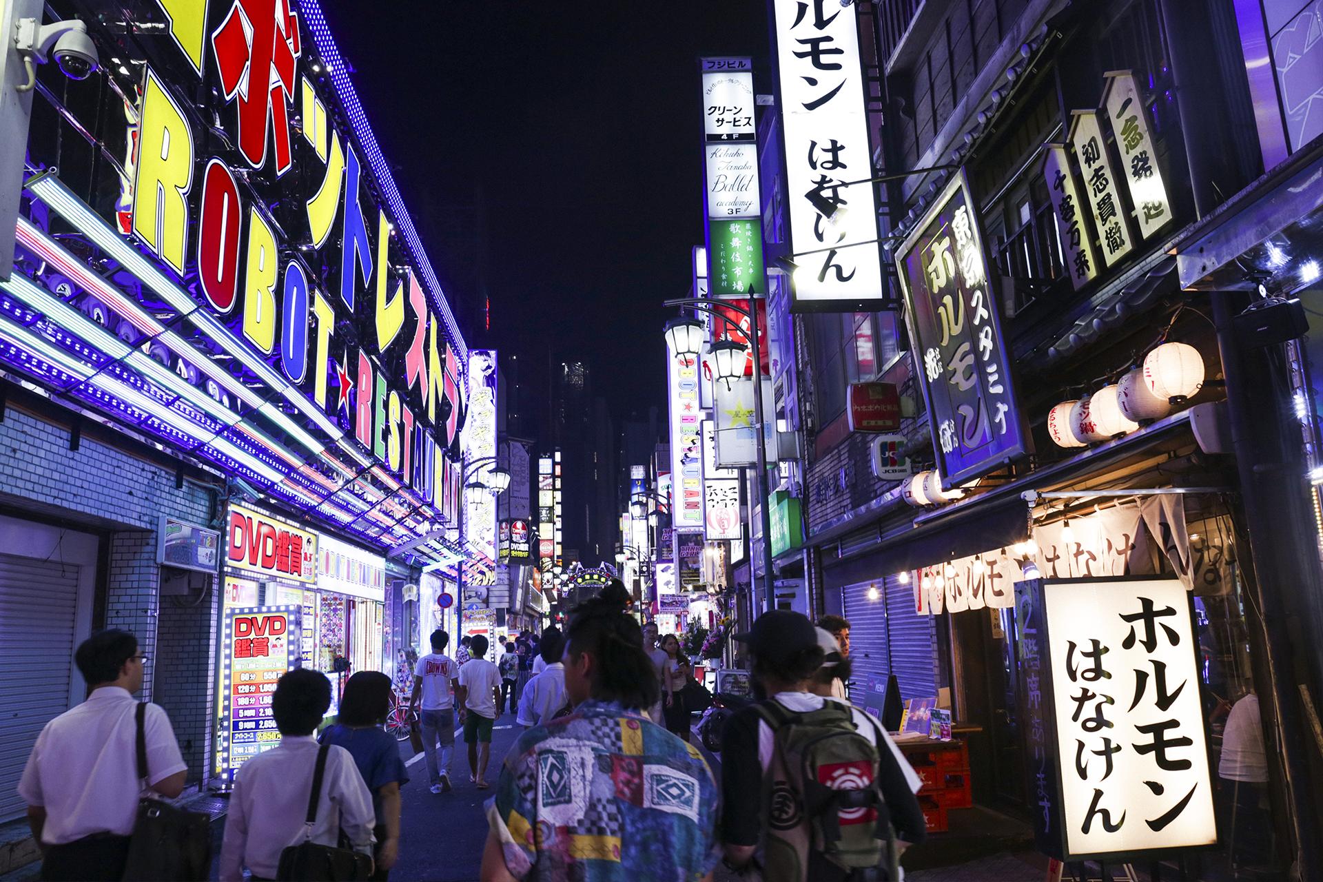 Shinjuku street night japan