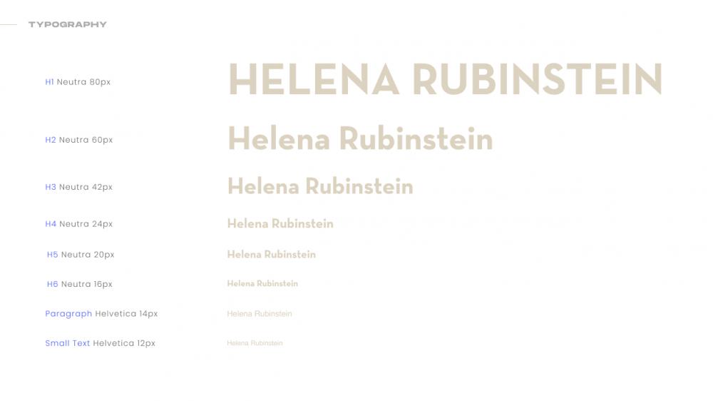Helena Rubinstein Project 1
